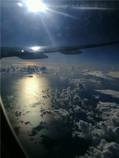 航拍—阳光下的云层