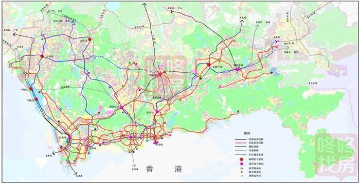 独家:深圳2030年最新地铁规划线网示意图!