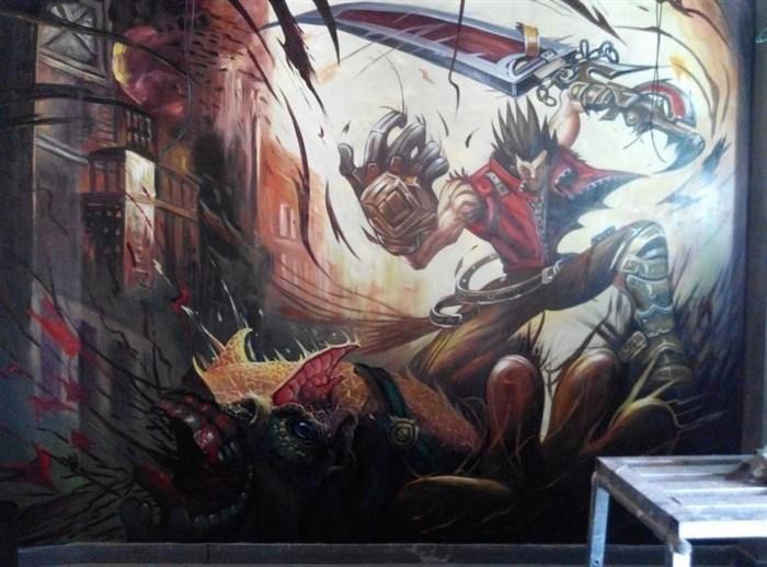 特色餐厅手绘墙