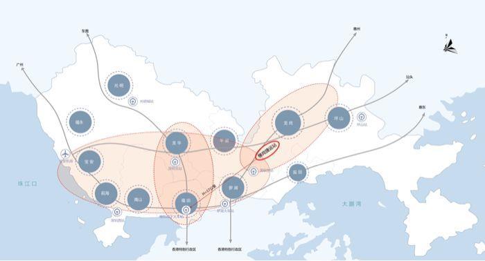 深圳市地图ppt矢量图
