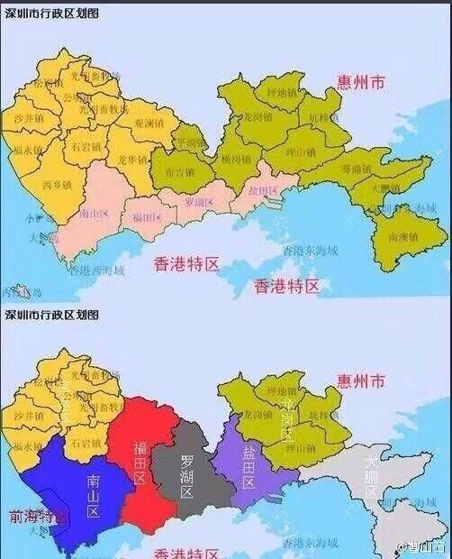 深圳新版行政区调整图
