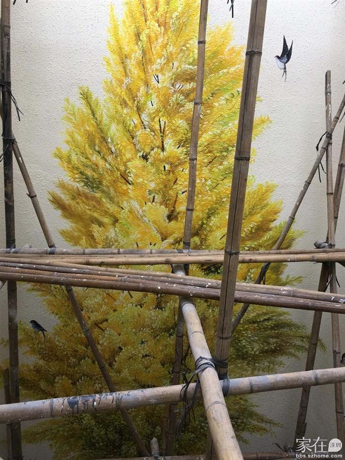 兴趣圈 手工 > 光起膀子加油画,艰苦绘制银杏树(画画篇)   26楼 只看