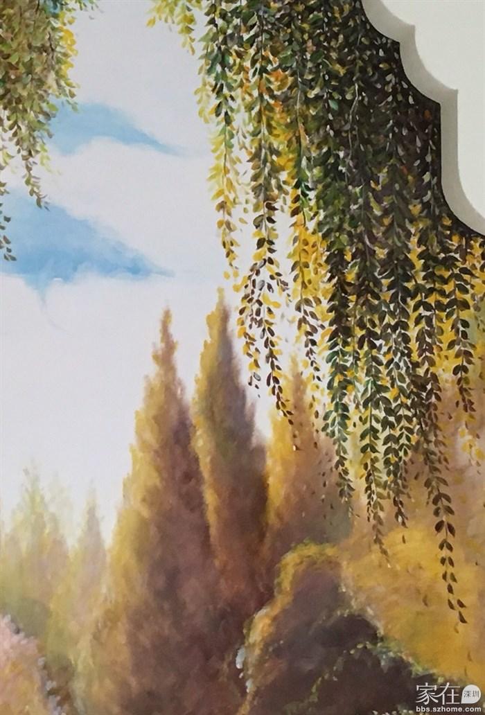 爆美手绘天鹅风景 壁画墙绘直播(更新) 心想着奥斯卡快来了,新年即将来临, 旧的一年即将结束 赶紧画些手绘好作品吧~ 颜料:水性丙烯 技法:油画技法 题材:天鹅、风景 用时:两天 绘画:恋漫hyao 此地 别墅一楼沙发背景墙 参考图案