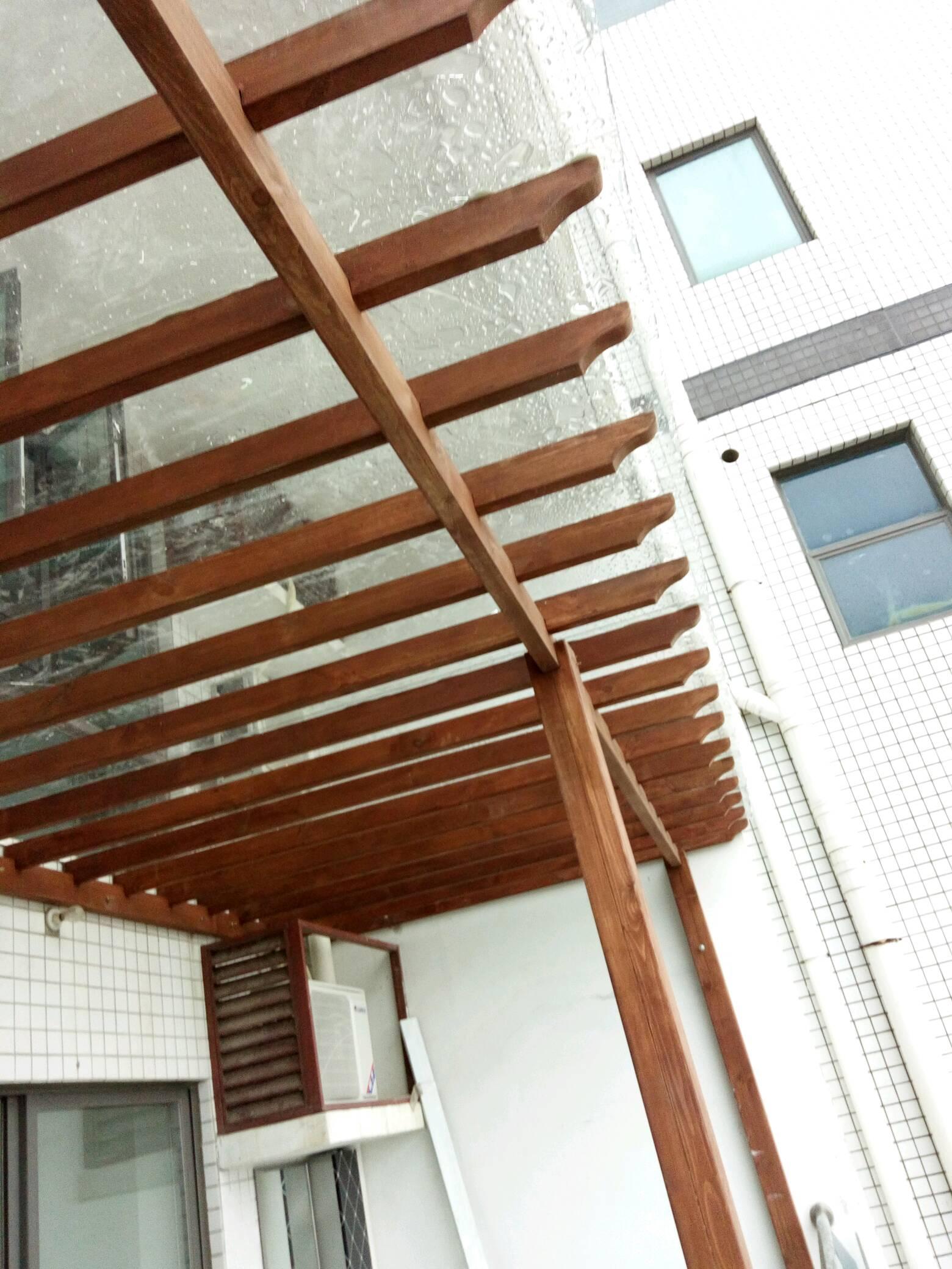 防腐木葡萄架,雨棚,户外地板,阳台吊顶墙板