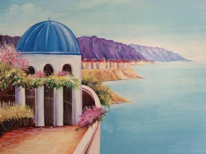 超美手绘画 海景