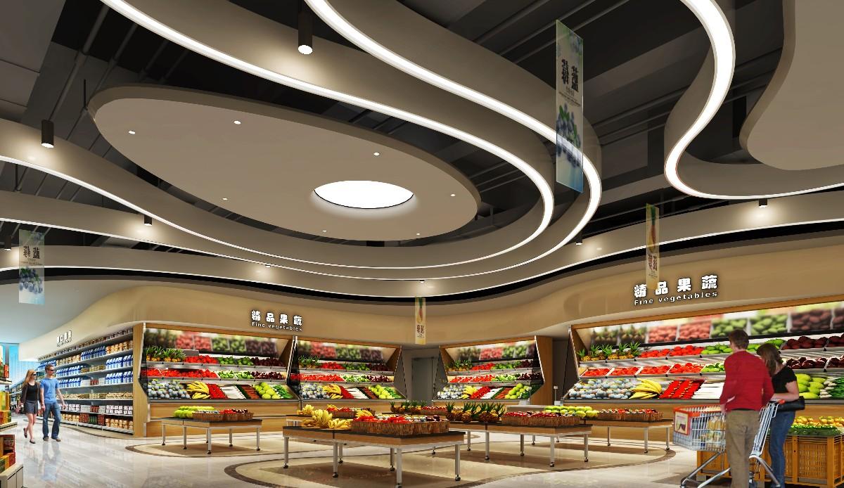 超市装修设计效果图-广东天霸设计最新作品分享