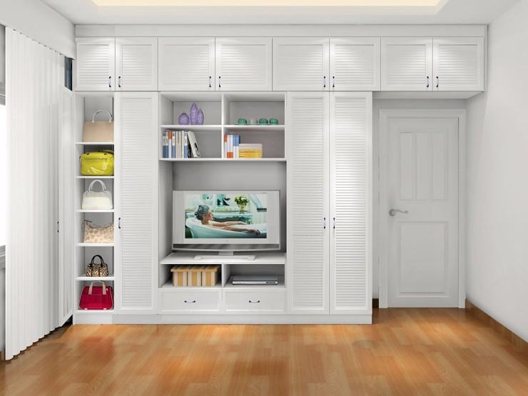 梳妆台,床头柜,电视柜组合设计完全符合我们生活动线,空间的视觉是