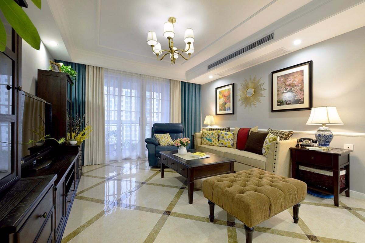 房型:三室两厅两卫 面积:130风格:简美+混搭装修 方式:半包 好生活不完全由富贵凭持,得乎心态 非常喜欢的一句话! 装修的过程、以后的生活,都会保持这样一种心态。 开始送照片了: (住进来已经有几个月了,现在看我家客厅墙壁颜色,是越看越喜欢,非常满意)  二楼上房子的房型图 房子是典型的南北通的三房,采光与通风都自认很好客厅与餐厅南北相通、次卧与书房南北相通、主卧与主卫南北相通 进门后 如果主卧门打开, 经过进门的过道、客餐厅通道、过道、主卧进门、衣帽间 这个进深有10多米吧 其实我很喜欢这个房型 长
