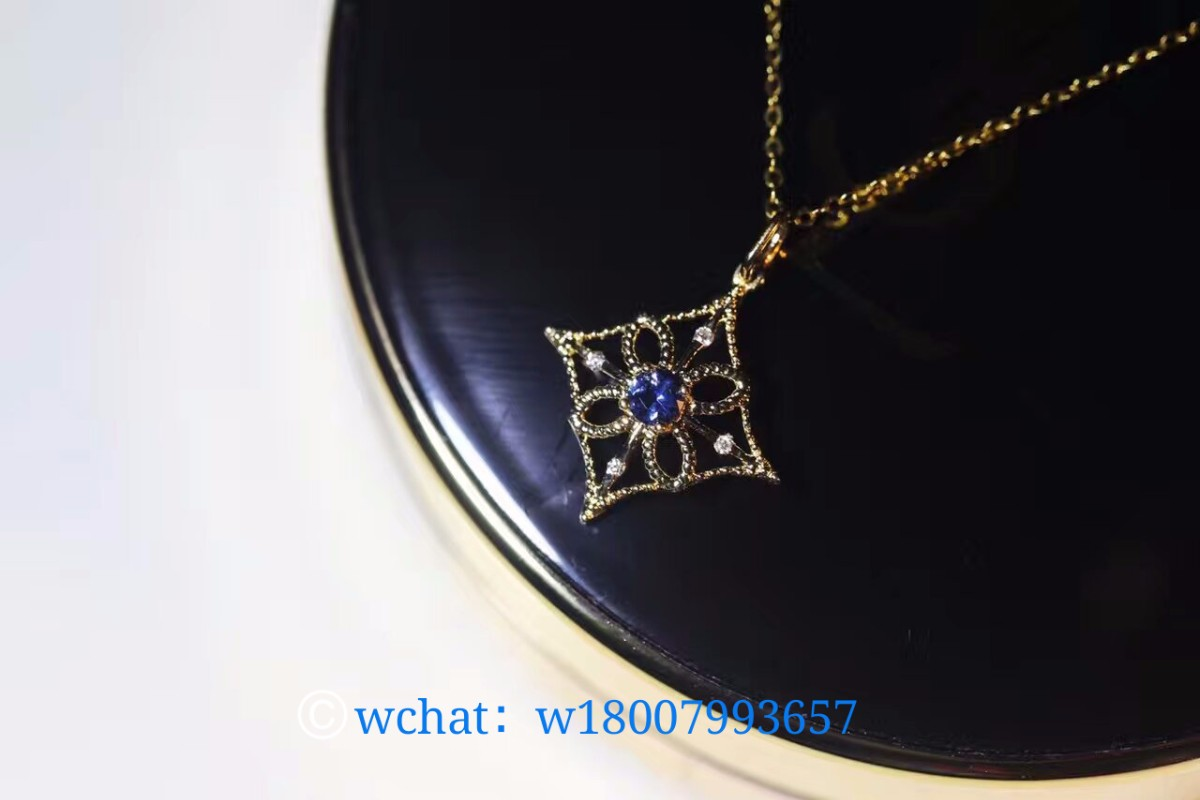 欧式宫廷复古蕾丝风 18k金蓝宝石