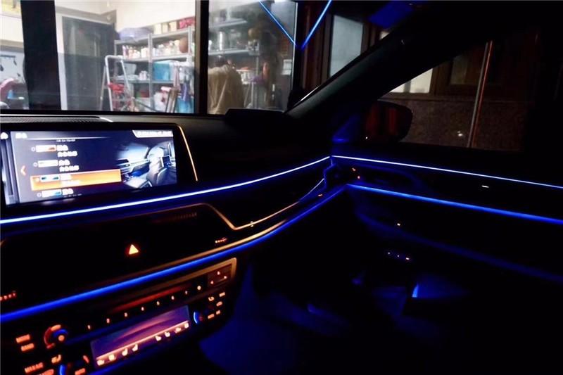 南京2018款宝马新款5系氛围灯改装原厂十一色氛围灯