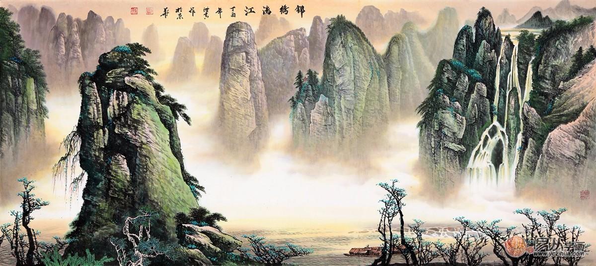 如此大气的山水画可不能错过   泰山是五岳之尊,以雄伟壮阔而出名,这